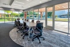 With a large table and plenty of natural light, the Teaming conference room is the perfect place for collaboration.